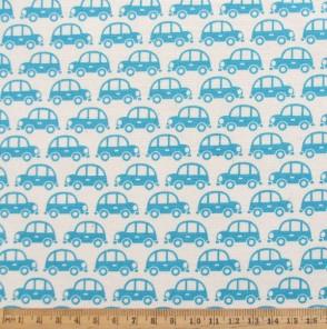 Mini cars cotton fabric