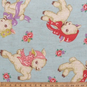 Retro style lamb cotton fabric