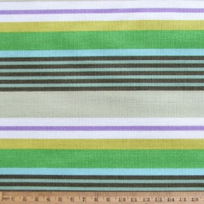 Deckchair stripe on cotton fabric