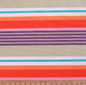 Deckchair stripe on cotton fabric