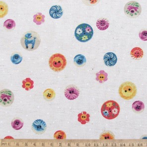 Bright as a Button cotton fabric